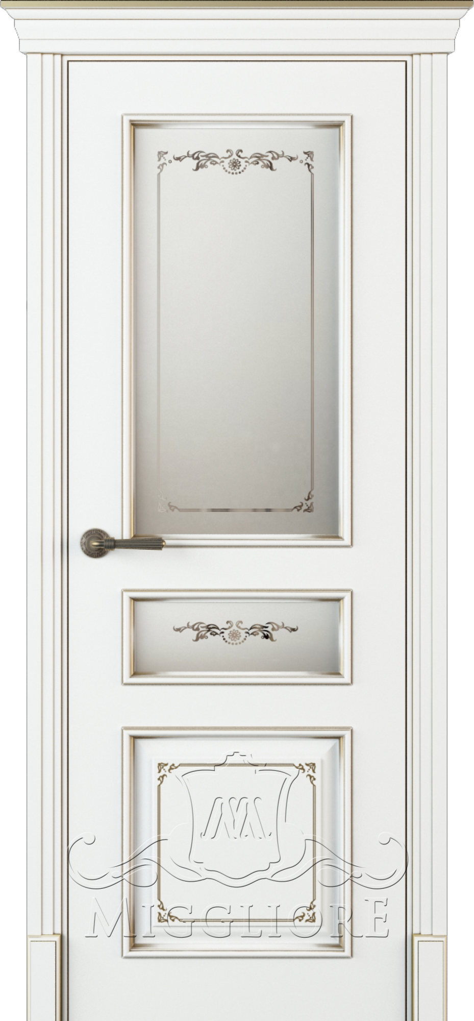 FLEURANS PALE ROYAL ML054 V-S-2 BIANCO PATINATO ORO