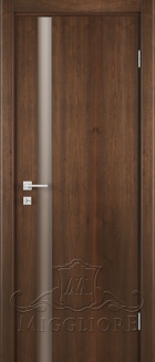 Межкомнатная дверь CITY STILE URBANO MK011 V ШПОН АМЕРИКАНСКОГО ОРЕХА ТОНИРОВАННЫЙ