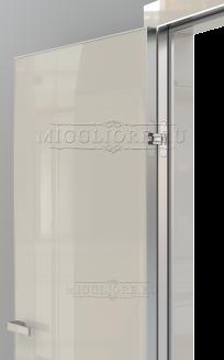 GLOSS 10 G Глянец, AVORIO 9010, алюминиевая кромка и алюминиевый  короб