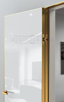 GLOSS 10 G Глянец, BIANCO, алюминиевая кромка Золото и алюминиевый  короб Золото