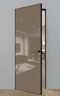 GLOSS 10 G Глянец, RAL 1019, алюминиевая черная кромка и черный алюминиевый  короб