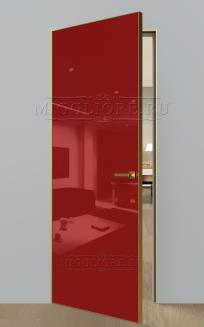 GLOSS 10 G Глянец, RAL 3001, алюминиевая кромка Золото и алюминиевый  короб Золото
