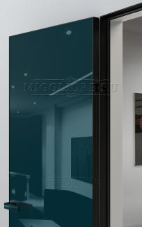 GLOSS 10 G Глянец, RAL 5001, алюминиевая черная кромка и черный алюминиевый  короб