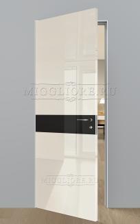 GLOSS 11 G Глянец, AVORIO 9010, алюминиевый  короб, вставка - эмаль