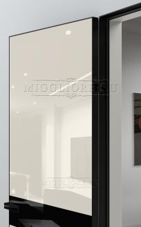 GLOSS 11 G Глянец, AVORIO 9010, алюминиевая черная кромка и черный алюминиевый  короб, вставка - эмаль