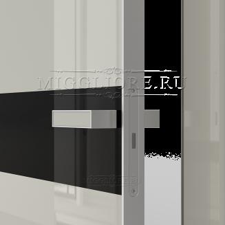 GLOSS 11 G Глянец, GRIGIO 7035, алюминиевая кромка и алюминиевый  короб, вставка - эмаль