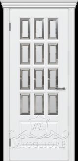 Межкомнатная дверь LEGNO LND-2.1 V-FACET BIANCO PERLA
