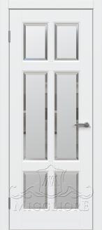 Межкомнатная дверь LEGNO PRV V-FACET BIANCO PERLA