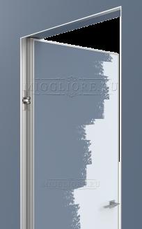 LINEA RETTA MRDA010 под покраску с алюминиевой  кромкой открывание IN короб алюминиевый