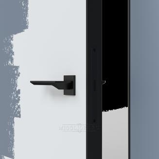 LINEA RETTA MRDA010 под покраску кромка алюминиевая черная открывание OUT короб алюминиевый черный