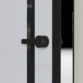 LINEA RETTA MRDA083 V с алюминиевой черной кромкой Серебро