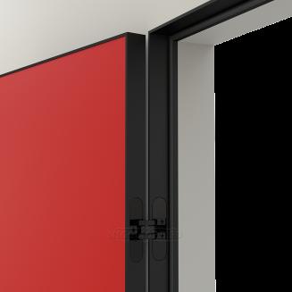 LINEA RETTA MRDA083 V с алюминиевой черной кромкой Красная азалия