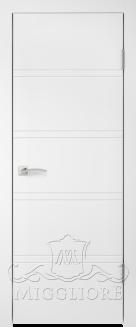 Межкомнатная дверь NORDIK 1.1 G BIANCO PERLA