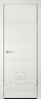 Межкомнатная дверь NORDIK 1.1 G BIANCO SETA