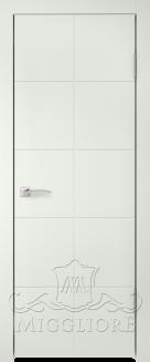 Межкомнатная дверь NORDIK 3.1 G BIANCO SETA