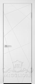 Межкомнатная дверь NORDIK 5.1 G BIANCO PERLA