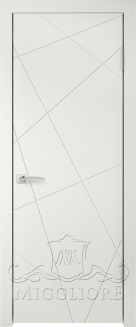 Межкомнатная дверь NORDIK 5.1 G BIANCO SETA