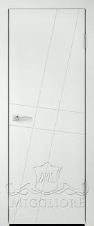 Межкомнатная дверь NORDIK 4.1 G BIANCO SETA