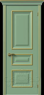 Межкомнатная дверь PROVENZA 2 G FRASSINO FISTASHKA PATINATO ORO
