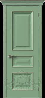 Межкомнатная дверь PROVENZA 2 G FRASSINO FISTASHKA PATINATO PLATINO