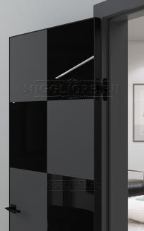 QUADRO 10.23 V-лакобель черный алюминиевая кромка черная GRAFITE NUBUK