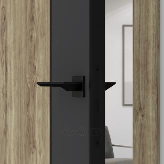 QUADRO 10.28 G чёрный алюминиевый молдинг+чёрная алюминиевая кромка DUB MELFORD + GRAFITE NUBUK