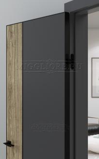 QUADRO 10.28 G чёрный алюминиевый молдинг+чёрная алюминиевая кромка GRAFITE NUBUK + DUB MELFORD