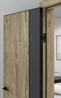 QUADRO 10.30 G чёрный алюминиевый молдинг+чёрная алюминиевая кромка DUB MELFORD + GRAFITE NUBUK