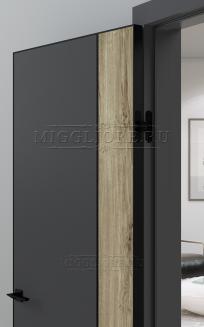 QUADRO 10.30 G чёрный алюминиевый молдинг+чёрная алюминиевая кромка GRAFITE NUBUK + DUB MELFORD