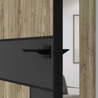 QUADRO 10.31 G чёрный алюминиевый молдинг+чёрная алюминиевая кромка DUB MELFORD + GRAFITE NUBUK