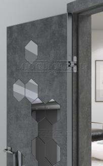 QUADRO 10.33 алюминиевая кромка Графит V-зеркало Графит LOFT GRAFITE