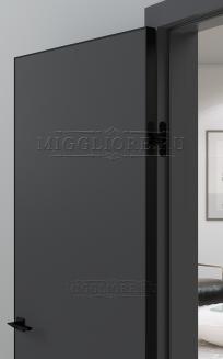 QUADRO 9.01 G чёрная алюминиевая кромка GRAFITE NUBUK