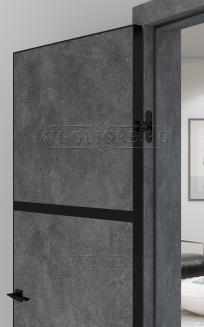 QUADRO 9.02 G чёрный алюминиевый декор+чёрная алюминиевая кромка LOFT GRAFITE