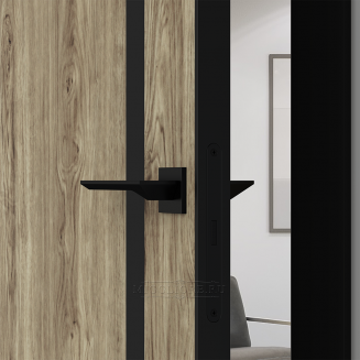 QUADRO 9.04 G чёрный алюминиевый декор+чёрная алюминиевая кромка DUB MELFORD +ANTRACIT