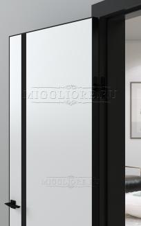 QUADRO 9.04 G чёрный алюминиевый декор+чёрная алюминиевая кромка SILK ICE +ANTRACIT