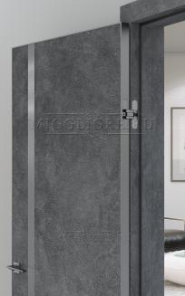 QUADRO 9.04 G  алюминиевый декор графит + алюминиевая кромка гравит LOFT GRAFITE