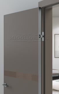 QUADRO 9.08 алюминиевая кромка Графит V-лакобель коричневый SOFT SMOKI