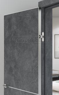 QUADRO 9.11 G  алюминиевый молдинг графит + алюминиевая кромка гравит LOFT GRAFITE