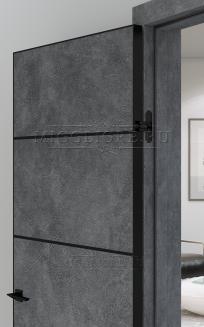 QUADRO 9.12 G чёрный алюминиевый молдинг+чёрная алюминиевая кромка LOFT GRAFITE