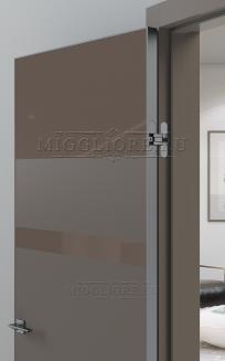 QUADRO 9.14 алюминиевая кромка Графит V-лакобель коричневый SOFT SMOKI