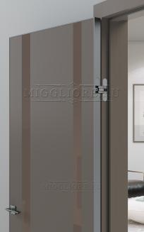 QUADRO 9.15 алюминиевая кромка Графит V-лакобель коричневый SOFT SMOKI