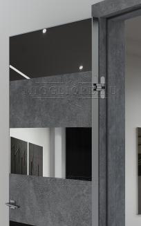 QUADRO 9.18 алюминиевая кромка Графит V-зеркало Графит LOFT GRAFITE
