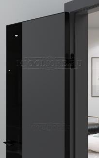 QUADRO 9.20 алюминиевая кромка черная V-лакобель черный GRAFITE NUBUK