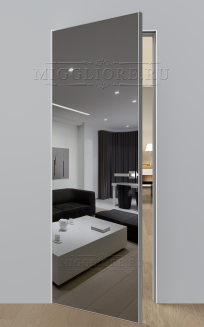 VETRO MMR01 алюминиевая кромка, алюминиевый короб, V-зеркало-Серебро