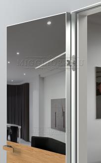 VETRO MMR03 алюминиевая кромка, алюминиевый короб, V-зеркало-Серебро, Шпон дуба тон-11
