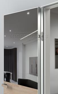 VETRO MMR03 алюминиевая кромка, алюминиевый короб, V-зеркало-Серебро, Шпон дуба тон-12