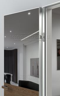 VETRO MMR03 алюминиевая кромка, алюминиевый короб, V-зеркало-Серебро, Шпон дуба тон-13
