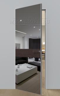 VETRO MMR03 алюминиевая кромка, алюминиевый короб, V-зеркало-Серебро, Шпон дуба тон-14