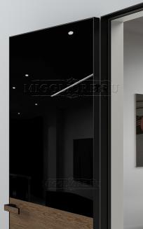 VETRO MMR03 алюминиевая черная кромка, алюминиевый черный короб, V-лакобель черный, Шпон дуба тон-13